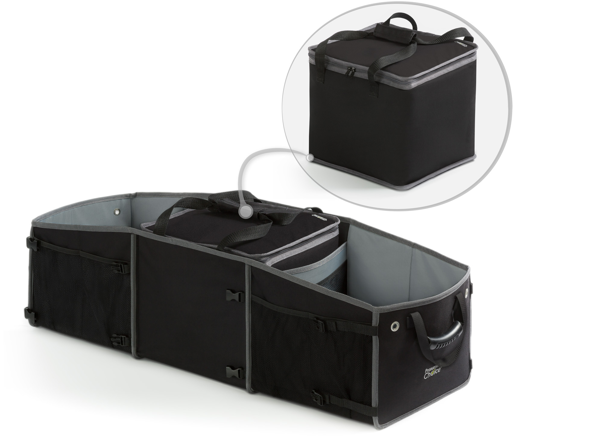 Basics Car Trunk Organizer with Insulated Cooler Bag