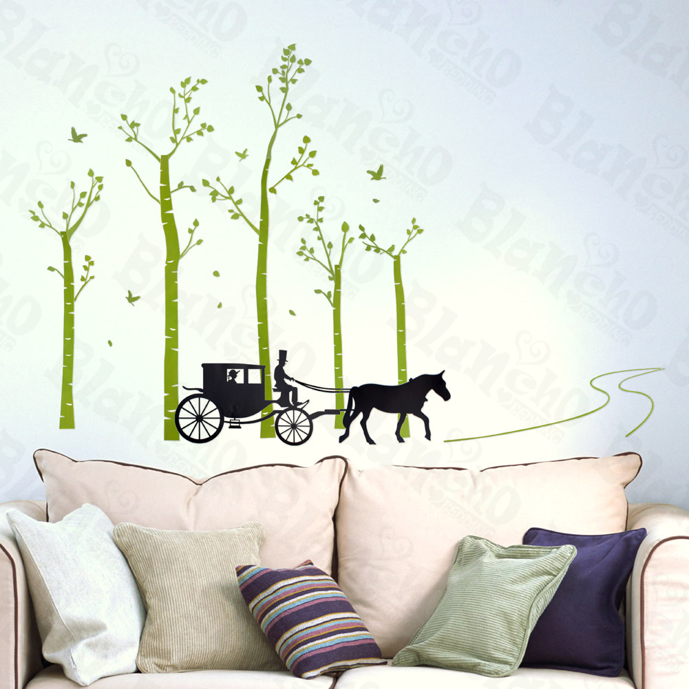 Country Road Large Wall Decals Stickers Appliques Home Decor Walmart Com Walmart Com,Nordic Style Living Room Design