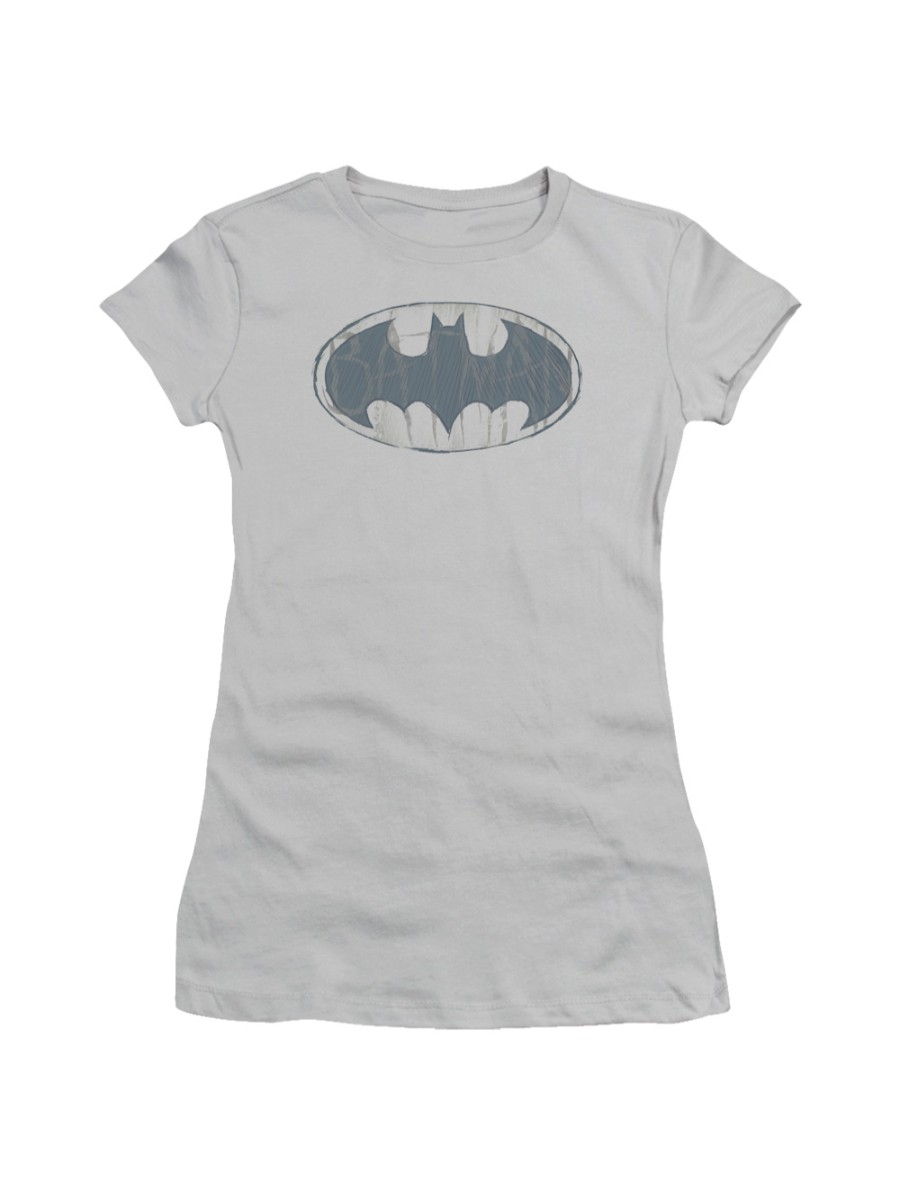 Batman DC Comics Water Sketch Signal Juniors Sheer T-Shirt Tee