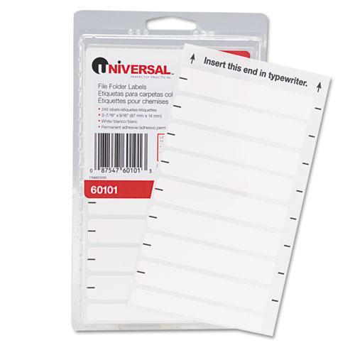 Universal File Folder Labels For Typewriters, 248/Pack (Set of 3)