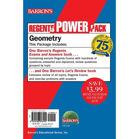 Regents Geometry Power Pack : Let's Review Geometry + Regents Exams and Answers: