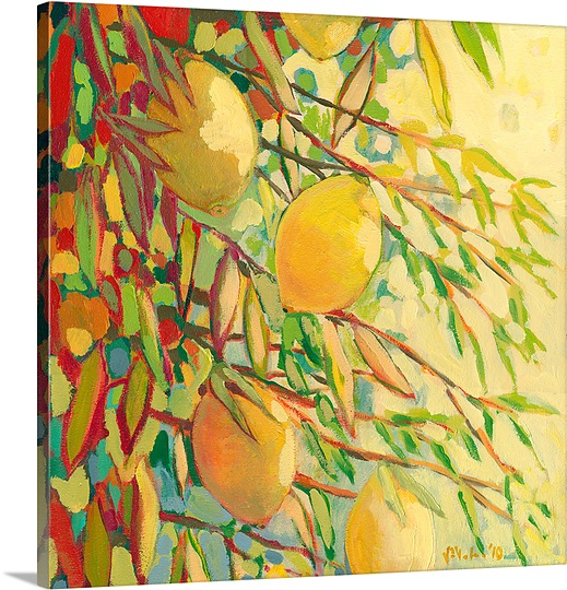 Great BIG Canvas | Jennifer Lommers Premium Thick-Wrap Canvas entitled Four Lemons