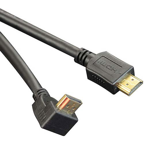 Tripp Lite 6' HDMI Gold Straight to Right-Angle Digital Video Cable