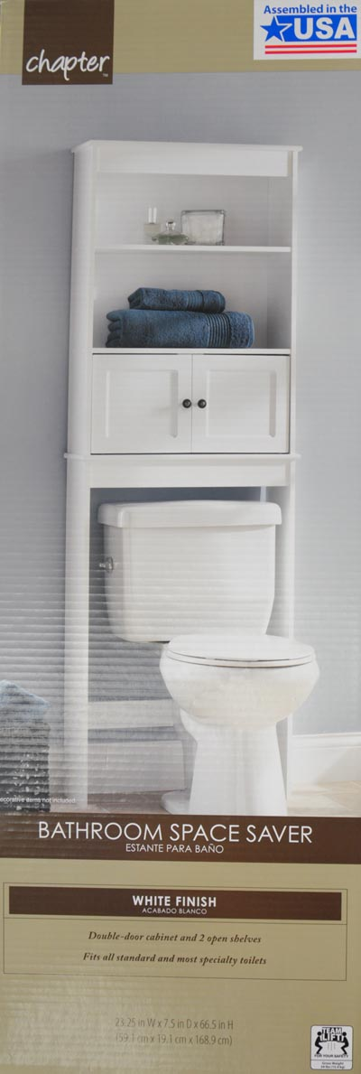 Beau Hawthorne Place White Wood Spacesaver Bathroom Shelf   Walmart.com