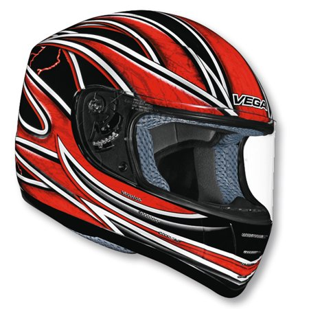 Vega Trak Universe Full Face Kart Racing Helmet Red