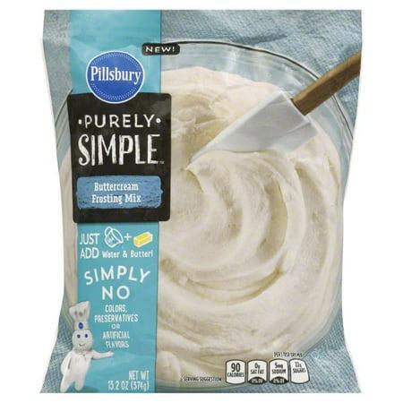(3 Pack) Pillsbury Purely Simple Buttercream Frosting Mix, 13.2 oz (Halloween Pillsbury)