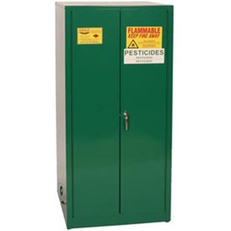 Eagle Pest62 Pesticide Safety Storage Cabinets - Green Two Door Manual Close Two Shelves