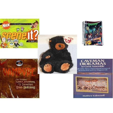 Children's Gift Bundle [5 Piece] - Scene It? Nickelodeon DVD Board -  Goosebumps Reading Is A Scream #4 Notepad - TY Attic Treasure Ivan The Bear  8