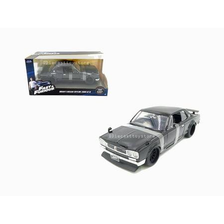 JADA 1:24 W/B - FAST & FURIOUS - BRIAN'S NISSAN SKYLINE 2000 GT-R (BLACK)
