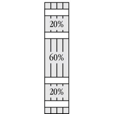 Perfect Shutters 23 875W in Closed Board N Batten Arch Top Vinyl Shutt