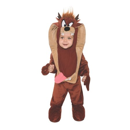 Taz Tasmanian Devil Looney Toons Infant Halloween Romper Costume - The Devil Makeup For Halloween