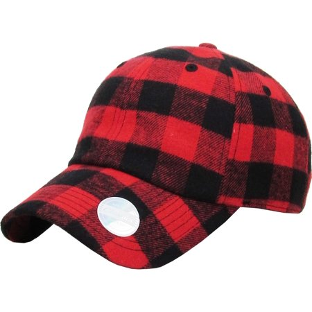 Red-Black Buffalo Plaid Classic Baseball Cap Dad Hat