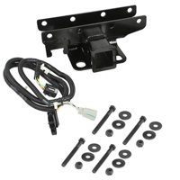 Rugged Ridge 11580.51 Black Receiver Hitch Kit with Wiring Harness for 2007-2018 Jeep Wrangler JK and JKU