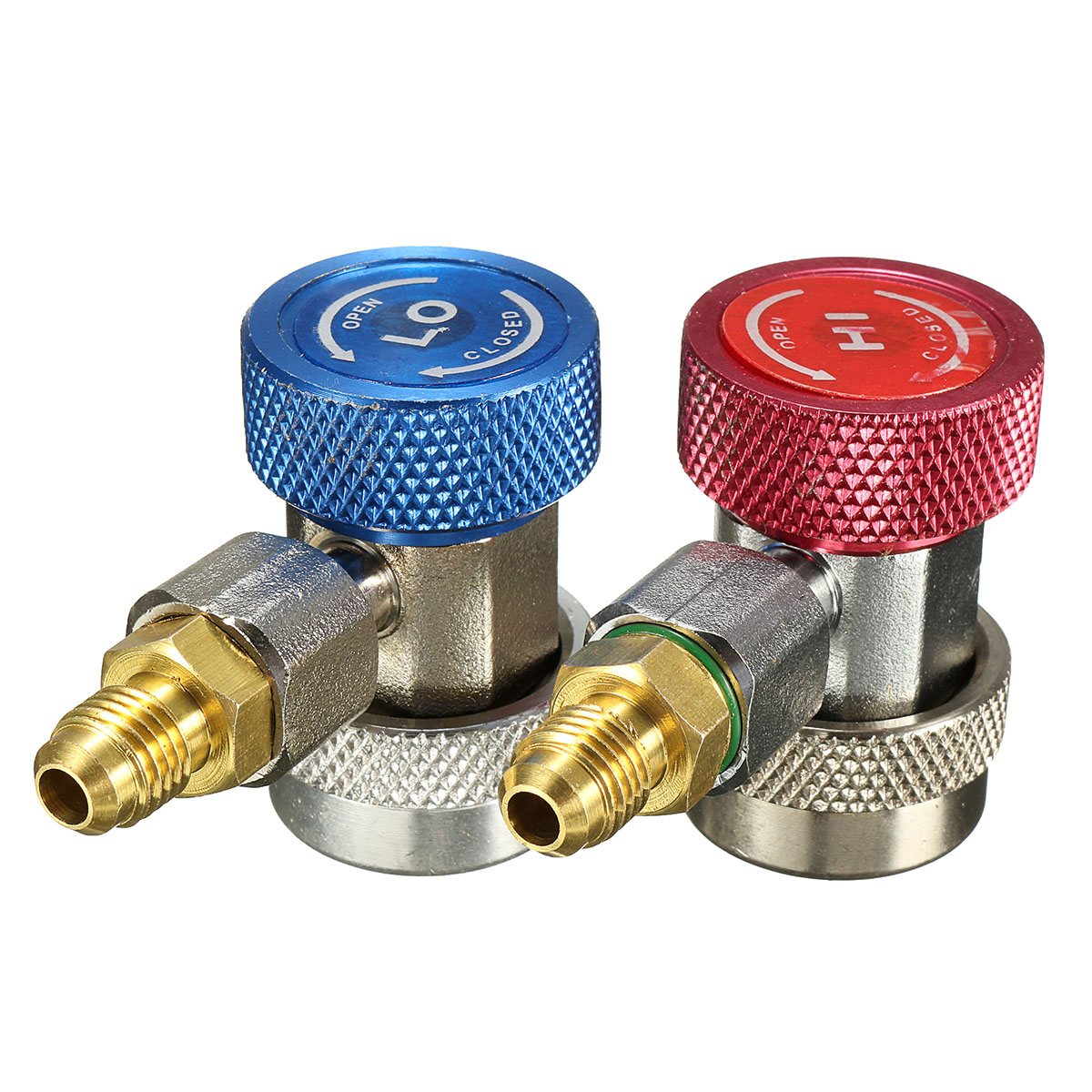 1PC R134A AC Air Condition Adjustable Quick Coupler Adapter Connector Red/Blue