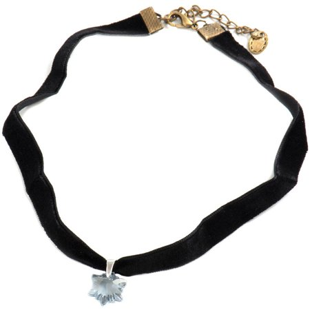 - Genuine Swarovski Edelweiss Blue Shade Crystal Pendant Choker Necklace