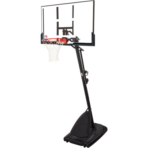 "Portable Angled Basketball Spalding NBA 54/"" Hoop with Polycarbonate Backboard"