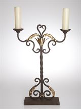 Abigails Candelabra In Iron Metal with Gold Leaf by