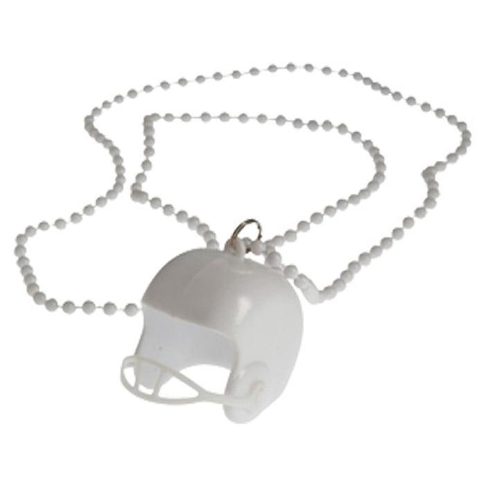 Football Helmet Bead Necklaces Black Pack of 12