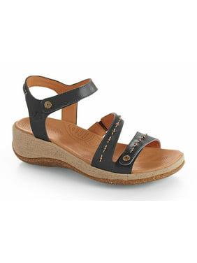 Acorn Women's VISTA Wedge Comfort Taupe Sandals 6 M