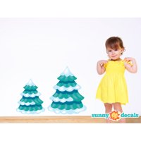 Sunny Decals Frozen Inspired Pine Trees Fabric Wall Decal