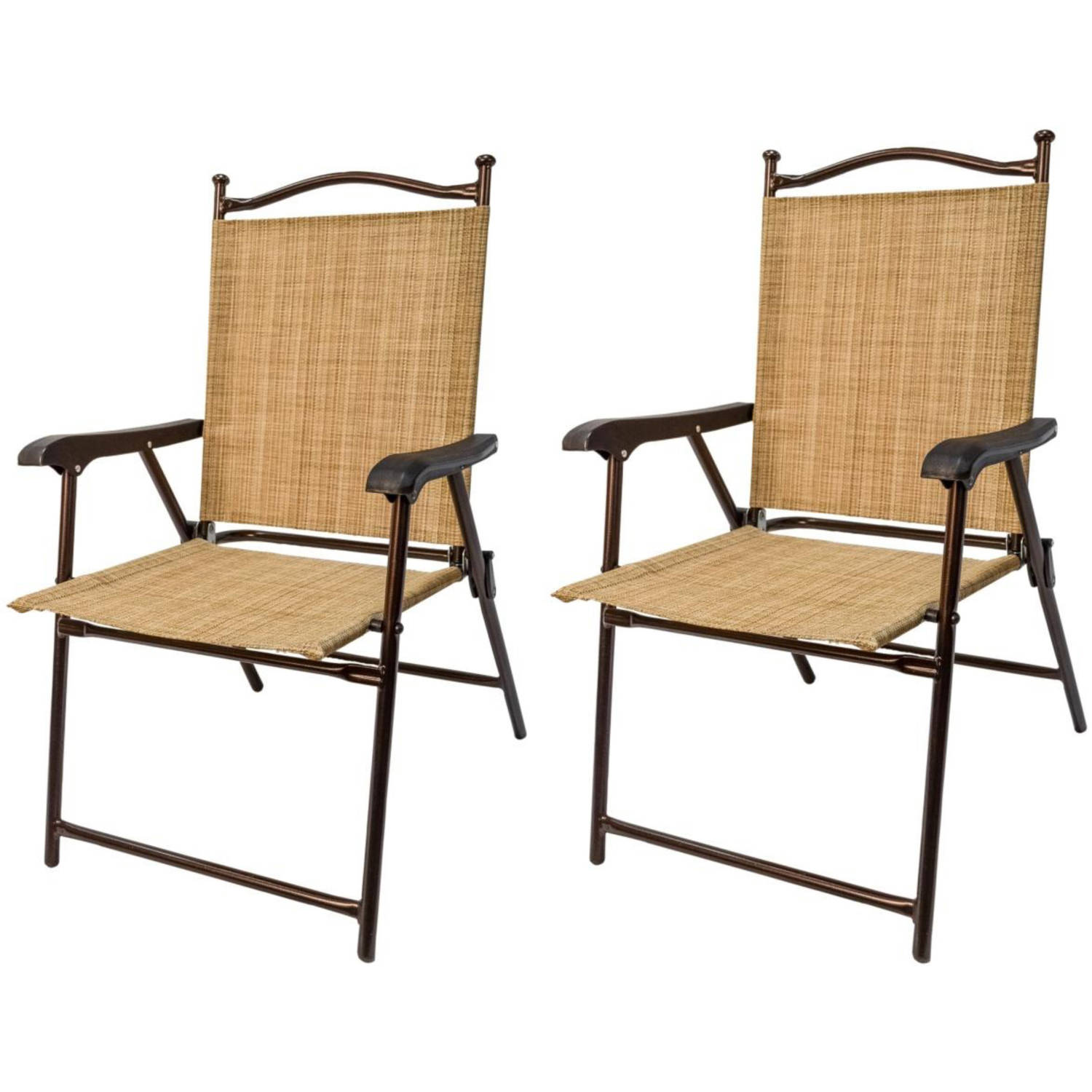Attractive Sling Black Outdoor Chairs Bamboo Set Of 2 Walmartcom
