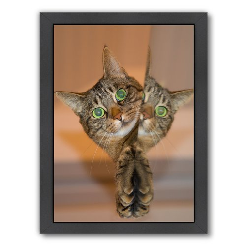 East Urban Home Cute And Sweet Cat Framed Photographic Print