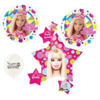 Barbie Birthday Party 4 piece Balloon Set