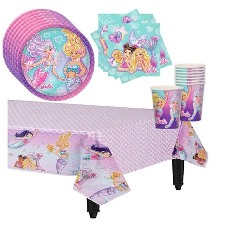 Barbie Mermaid Party Supplies for 16 guests](Barbie Silhouette Party Supplies)