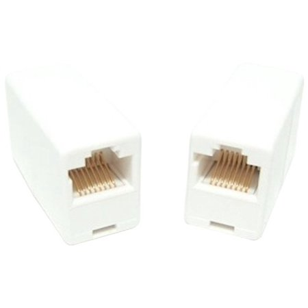 Micro Connectors, Inc. CAT 5E RJ45 Stright Through Coupler Female to Female - White(C20-110L5W) - Micro Connectors Cat