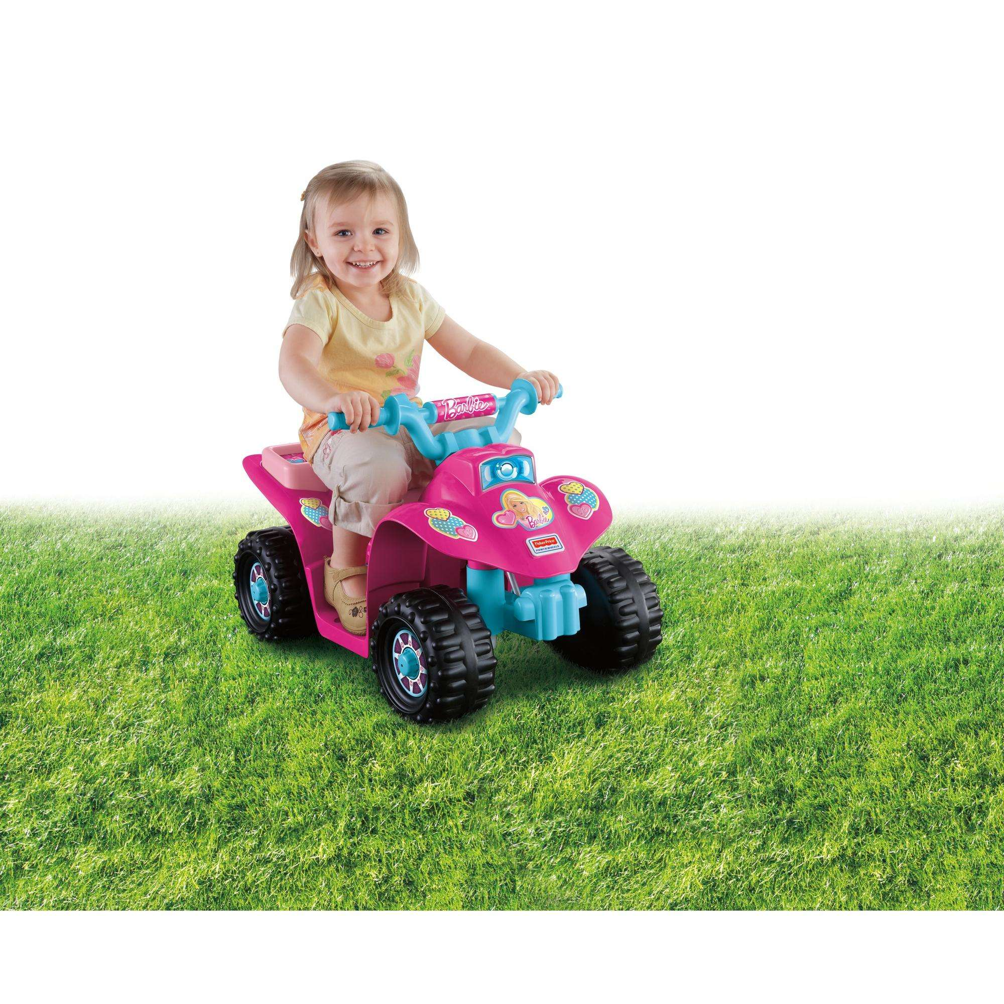 Power Wheels Barbie Princess Lil' Quad 6-Volt Battery-Powered Ride-On