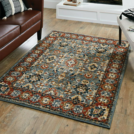 - Better Homes & Gardens Persian Border Indigo Area Rug or Runner