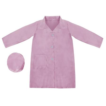 White Doctor's Coat (TopTie Kid's Lab Coat with Cap, For Kid Nurse or)