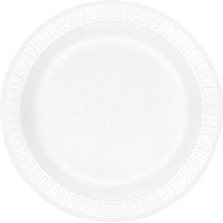 Concorde Non Laminated Foam Dinnerware - Dart Concorde Foam Plate, 10.25