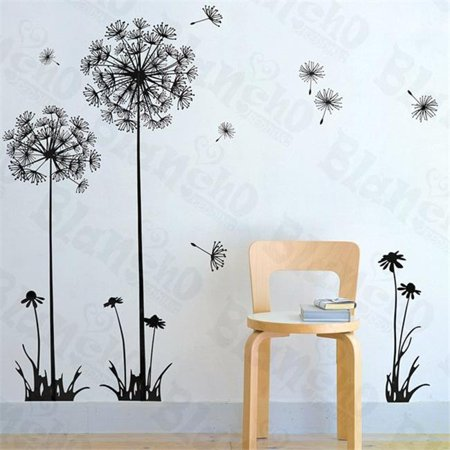 HL-5869 Flying Dandelion - Large Wall Decals Stickers Appliques Home Decor ()