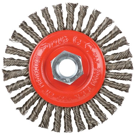 Forney 4 in Stringer Wire Wheel Brush Metal 20000 rpm 1 pc