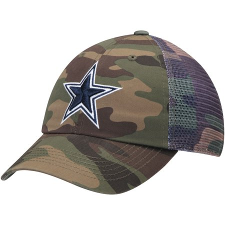 Dallas Cowboys Cambletown Adjustable Hat - Camo - OSFA - Dallas Cowboys Costumes