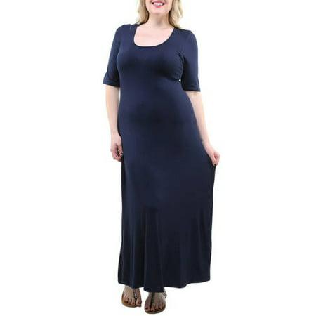 24/7 Comfort Apparel - Women\'s Plus Size Maxi Dress - Walmart.com