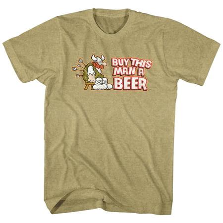 Hagar The Horrible Instant Viking Comic Buy This Man A Beer Adult T-Shirt Tee