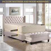 GOWTUN, 14-Inch Firm Double sided Tight top Innerspring Mattress And 8-Inch Fully Assembled Boxspring/Foundation Set, Twin XL Size