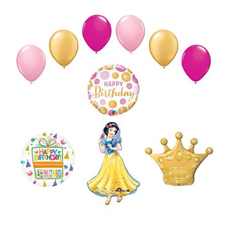 Snow White Birthday - Snow White Crown Princess Balloon Birthday Party Supplies and Decorations