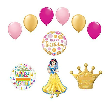 Snow White Crown Princess Balloon Birthday Party Supplies and Decorations