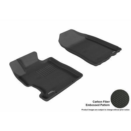 3D MAXpider 2006-2011 Honda Civic Coupe/Sedan Front Row All Weather Floor Liners in Black with Carbon Fiber Look