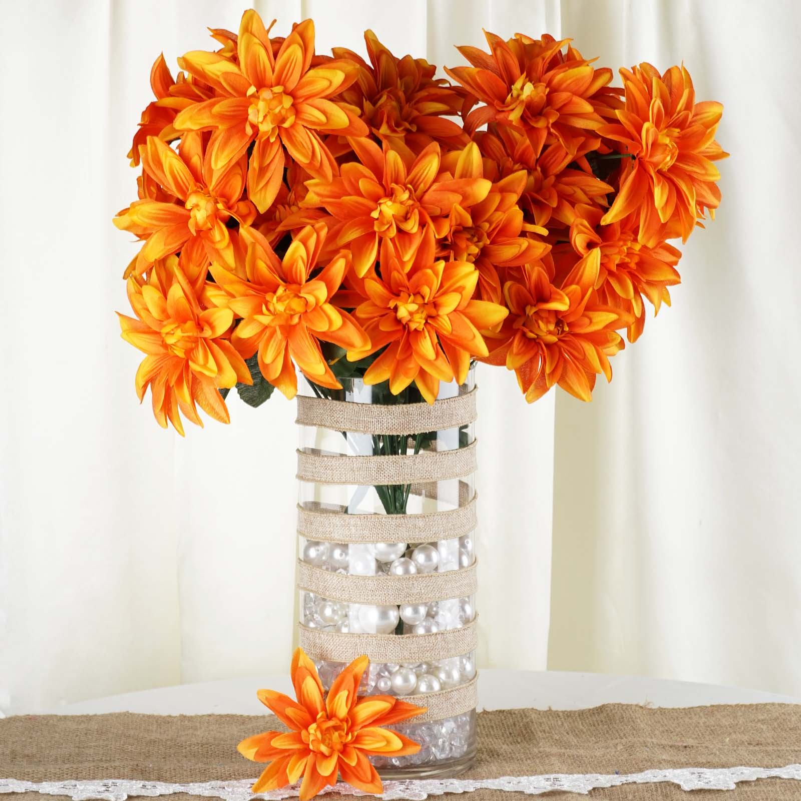 BalsaCircle 56 Silk Dahlia Artificial Flowers - DIY Home Wedding Party Bouquets Arrangements Centerpieces