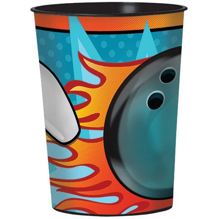 Bowling 16oz Plastic Favor Cup (Each) (Bowling Supplies)