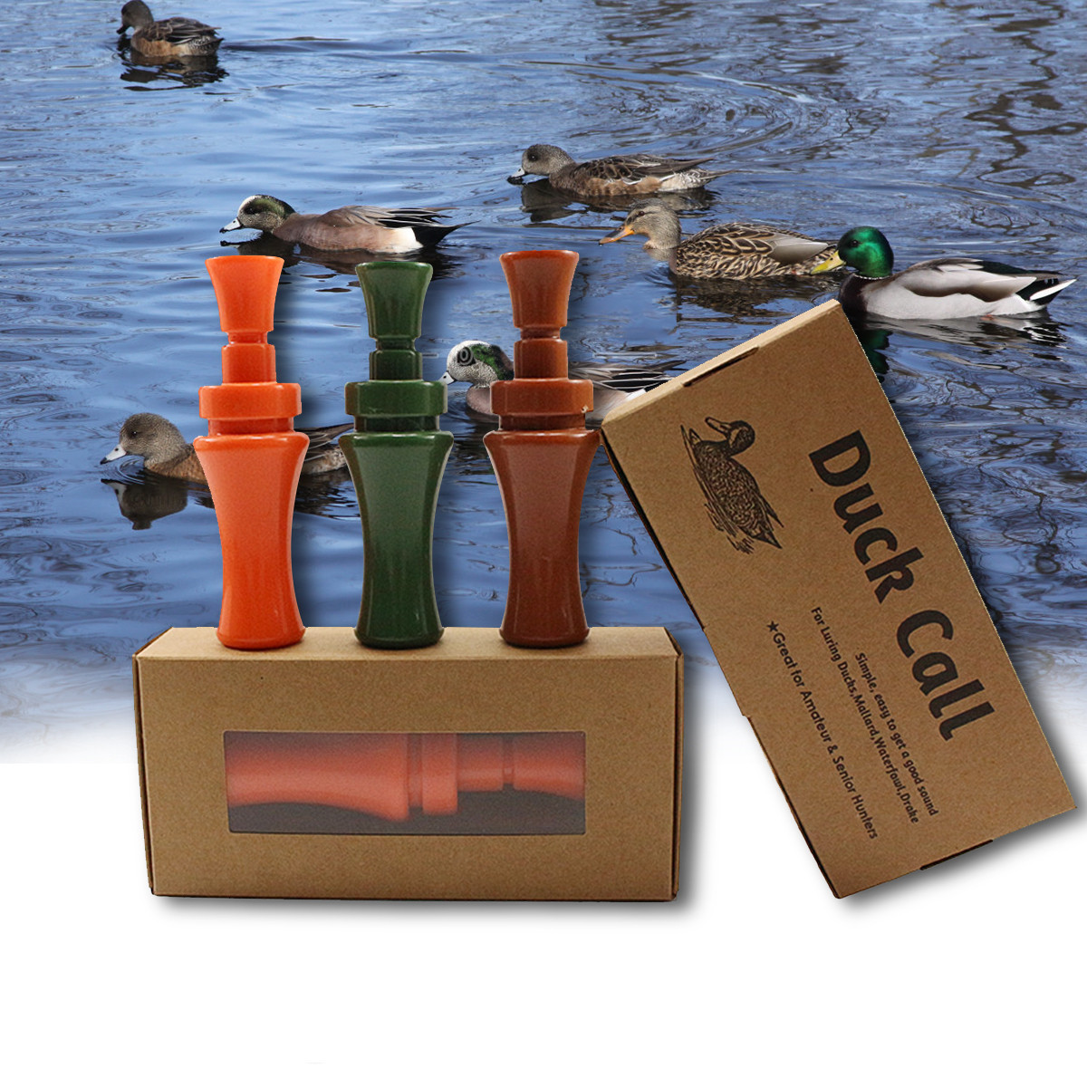 OUTDOOR DUCK CALL WHISTLE PHEASANT MALLARD HUNTING GAME CALLER DECOY ALLURING