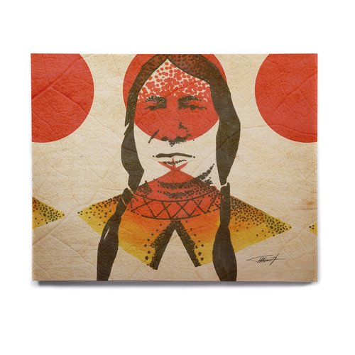 East Urban Home 'Indian' Graphic Art Print on Wood