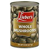 8 Oz Mushroom - Lieber's Mushrooms Whole Kosher For Passover 8 Oz. Pack Of 3.