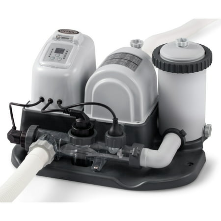Saltwater System - Intex - 120V Cartridge Filter Pump and Saltwater System