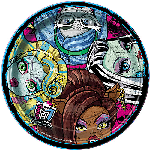 "9"" Monster High Party Plates, 8ct"