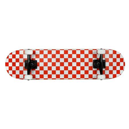 Krown Skateboard Rookie Checker White/Red Complete
